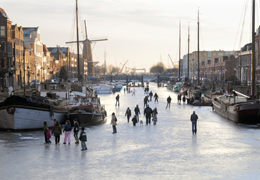 Winter in historisch Delfshaven voor website